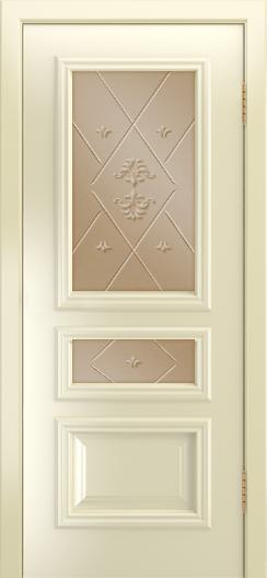 Двери Лайндор Агата Д эмаль бисквит стекло Прима бронза