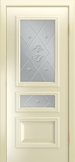 Двери Лайндор Агата Д эмаль бисквит стекло Прима