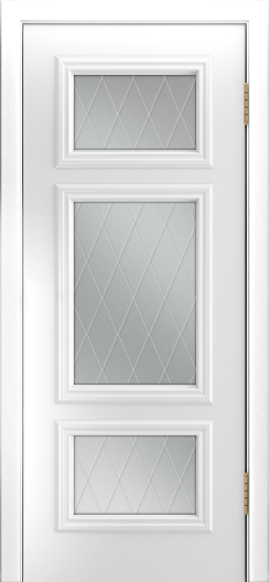 Двери Лайндор Афина Д эмаль белая стекло Лондон