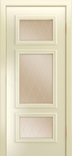 Двери Лайндор Афина Д эмаль бисквит стекло Лондон бронза