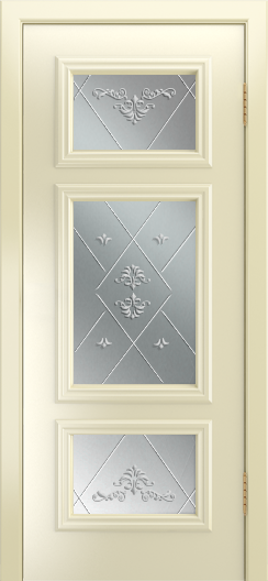 Двери Лайндор Афина Д эмаль бисквит стекло Прима
