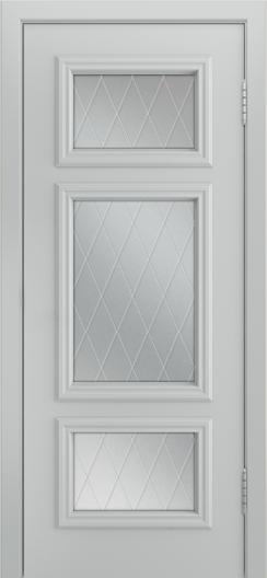 Двери Лайндор Афина Д эмаль серая стекло Лондон
