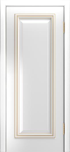 Двери Лайндор Валенсия Д эмаль белая патина золото