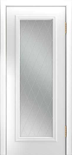 Двери Лайндор Валенсия Д эмаль белая стекло Лондон