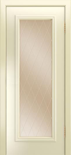 Двери Лайндор Валенсия Д эмаль бисквит стекло Лондон бронза