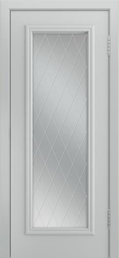 Двери Лайндор Валенсия Д эмаль серая стекло Лондон