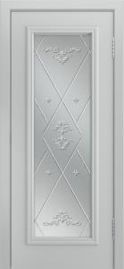 Двери Лайндор Валенсия Д эмаль серая стекло Прима