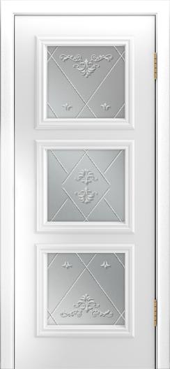 Двери Лайндор Грация Д эмаль белая стекло Прима