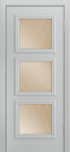 Двери Лайндор Грация Д эмаль серая стекло Лондон бронза