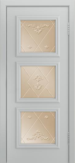 Двери Лайндор Грация Д эмаль серая стекло Прима бронза