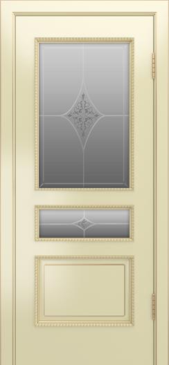 Двери Лайндор Калина П эмаль бисквит стекло Гелиос