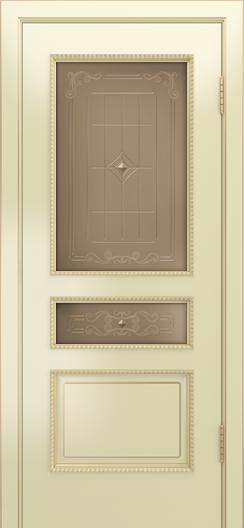 Двери Лайндор Калина П эмаль бисквит стекло Калина бронза