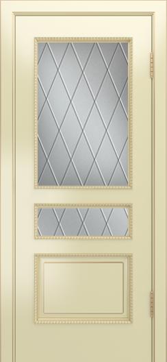 Двери Лайндор Калина П эмаль бисквит стекло Лондон светлое
