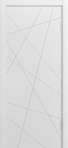 Двери Лайндор Ника Ф1 Кристалл эмаль Белая