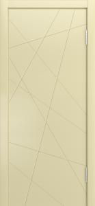 Двери Лайндор Ника Ф1 Кристалл эмаль Бисквит