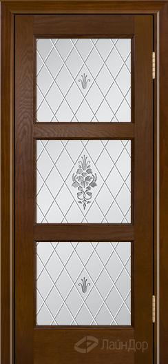 Двери ЛайнДор Грация К тон 30 стекло Лилия светлое
