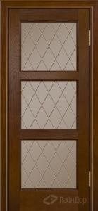 Двери ЛайнДор Грация К тон 30 стекло Лондон бронза