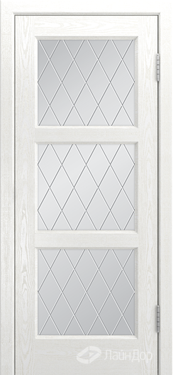 Двери ЛайнДор Грация К тон 38 стекло Лондон светлое