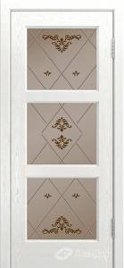 Двери ЛайнДор Грация К тон 38 стекло Прима бронза