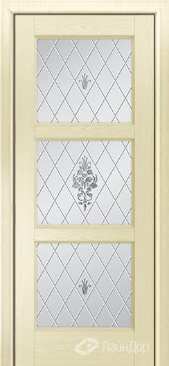 Двери ЛайнДор Грация К тон 42 стекло Лилия светлое