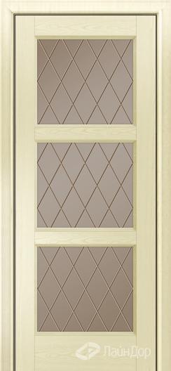 Двери ЛайнДор Грация К тон 42 стекло Лондон бронза