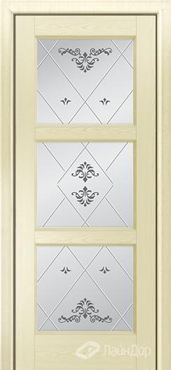 Двери ЛайнДор Грация К тон 42 стекло Прима