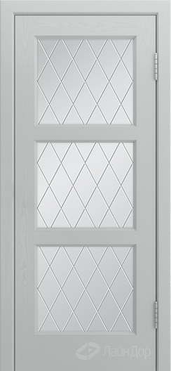 Двери ЛайнДор Грация К тон 46 стекло Лондон светлое