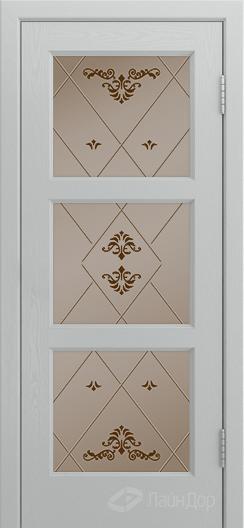 Двери ЛайнДор Грация К тон 46 стекло Прима бронза