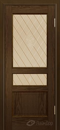 Двери ЛайнДор Калина К тон 35 стекло Лилия бронза