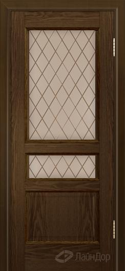Двери ЛайнДор Калина К тон 35 стекло Милтон бронза