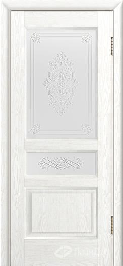 Двери ЛайнДор Калина К тон 38 стекло Дамаск золото на белом