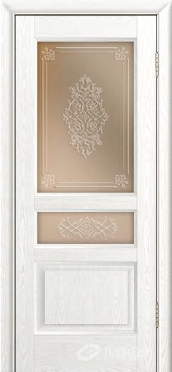 Двери ЛайнДор Калина К тон 38 стекло Дамаск прозрачный на бронзе