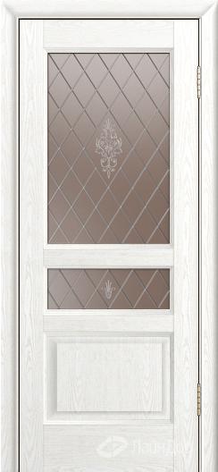 Двери ЛайнДор Калина К тон 38 стекло Лилия-бронза