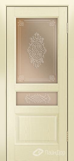 Двери ЛайнДор Калина К тон 42 стекло Дамаск прозрачный на бронзе
