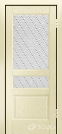 Двери ЛайнДор Калина К тон 42 стекло Лилия
