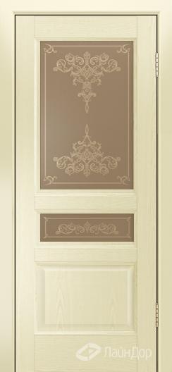 Двери ЛайнДор Калина К тон 42 стекло Лира бронза