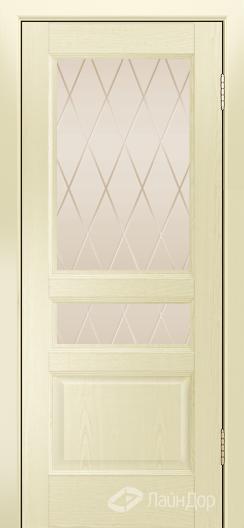 Двери ЛайнДор Калина К тон 42 стекло Лондон бронза