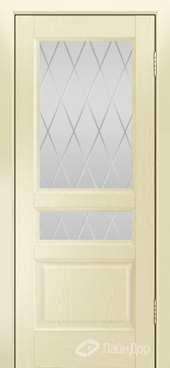 Двери ЛайнДор Калина К тон 42 стекло Лондон