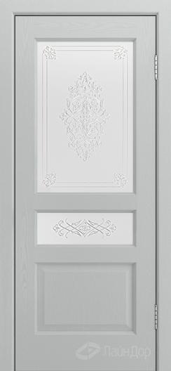 Двери ЛайнДор Калина К тон 46 стекло Дамаск золото на белом