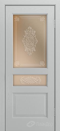 Двери ЛайнДор Калина К тон 46 стекло Дамаск прозрачный на бронзе