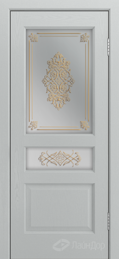 Двери ЛайнДор Калина К тон 46 стекло Дамаск