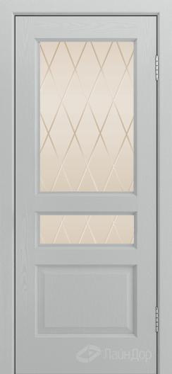 Двери ЛайнДор Калина К тон 46 стекло Лондон бронза