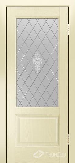 Двери ЛайнДор Кантри К тон 42 стекло Лилия светлое