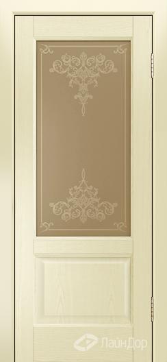 Двери ЛайнДор Кантри К тон 42 стекло Лира бронза