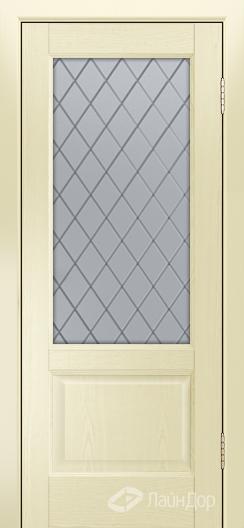 Двери ЛайнДор Кантри К тон 42 стекло Милто