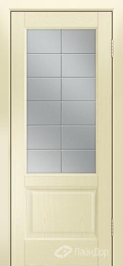 Двери ЛайнДор Кантри К тон 42 стекло Решетка