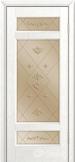 Двери ЛайнДор Мишель К тон 38 стекло Прима бронза
