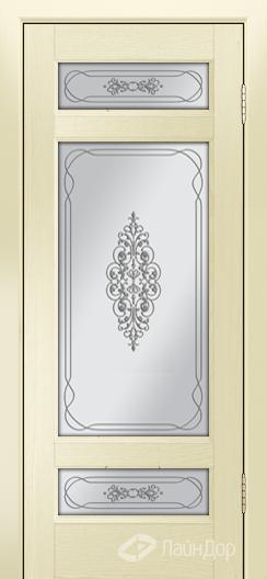 Двери ЛайнДор Мишель К тон 42 стекло Виви сатин