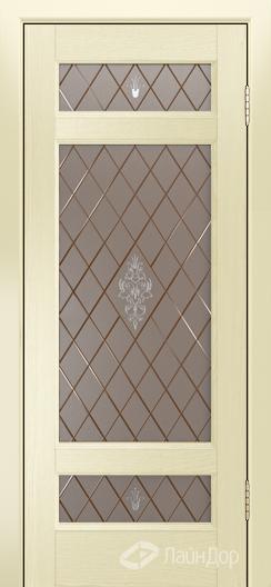 Двери ЛайнДор Мишель К тон 42 стекло Лилия бронза
