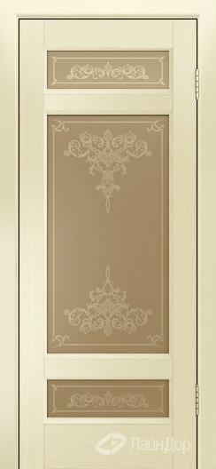 Двери ЛайнДор Мишель К тон 42 стекло Лира бронза